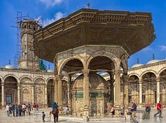 Mosque of Muhammad Ali, Cairo, Egypt (bfryxell) Tags: egypt clocktower cairo alabastermosque mosqueofmuhammadali citadelofsaladin