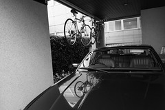 Omotesando, Tokyo (fabiolug) Tags: street leica blackandwhite bw house reflection building monochrome car bike bicycle japan wall architecture reflections japanese tokyo blackwhite asia garage parking 28mm wide streetphotography bikes rangefinder wideangle bicycles monochrom biancoenero omotesando elmarit leicam elmarit28mm leicaelmarit28mmf28asph elmarit28mmf28asph leicaelmarit leicaelmarit28mm mmonochrom leicammonochrom leicamonochrom