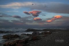 PRIMERAS LUCES (serafuentes) Tags: costa naturaleza mar andaluca paisaje amanecer cielo almera temporal