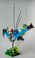 LEGO Painted Lady (wesleyobryan) Tags: city lady robot flying lego painted killer hunter apocalego