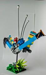 LEGO Painted Lady (wesleyobryan) Tags: city lady robot flying lego painted killer hunter apocalego