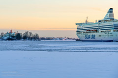 Winter afternoon (gynsy75) Tags: winter sea streets ice architecture finland boats helsinki europe seasons streetphotography countries vehicles siljaline floraandfauna siljaserenade djurochnatur