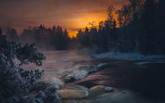 Langinkoski rapids (Jyrki Salmi) Tags: winter sunset finland river dark evening nikon rapids nikkor jyrki kotka d600 kymi 1635mm salmi langinkoski