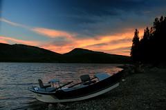Arriving by boat (RPahre) Tags: sunrise boat wyoming grandtetons tetons grandtetonnationalpark jacksonlake
