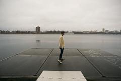 (Abigail Gorden) Tags: city wet rain boston dock cloudy roommates charlesriver caroline overcast rainy lonely distance