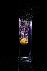 Splash (Jnipco) Tags: water glass lemon splash
