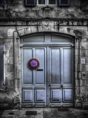 Day and Night (Luc V. de Zeeuw) Tags: door old blue france window night day decay entrance nosmoking larochelle trafficsign poitoucharentes