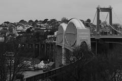 I K BRUNEL BRIDGE (Andrew Mansfield - Sheffield UK) Tags: bridge train tren puente cornwall plymouth railway trains ponte devon pont suspensionbridge treno tamar brunel ferrocarril gwr a38 saltash greatwesternrailway roadbridge royalalbertbridge tamarbridge ikbrunel