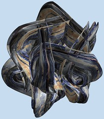 5 Tori / 5つの輪環 (TANAKA Juuyoh (田中十洋)) Tags: torus 輪環 りんかん ドーナツ トーラス どーなつ mathematica 3d cg parametricplot3d texture code program algorithm abstruct graphic design pattern structure mapping figure プログラム コード アルゴリズム テクスチャ マッピング 模様 もよう 抽象 ちゅうしょう アブストラクト グラフィック グラフィクス パターン デザイン 意匠 いしょう 構造 こうぞう 図形 ずけい symmetry 対称性 たいしょうせい シンメトリー 対称 たいしょう