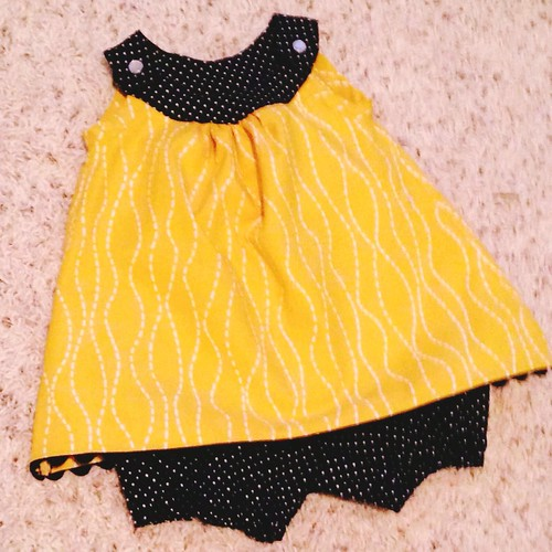 The Snappy Toddler Dress by Toronto Mama (free pattern) and Sweet ...