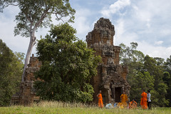 Terrace of the Elephants - Angkor Thom (virtualwayfarer) Tags: world travel people heritage overgrown canon temple site asia cambodia cambodian buddhist religion ruin streetphotography monk places angkorwat unesco adventure jungle monks temples spiritual siemreap angkor canondslr tombraider worldheritage ruined angkorthom lostcity siamreap travelphotography archaeologicalsite terraceoftheelephants solotravel hiddencity khamer canon6d