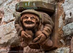 Gargoyle Man (paul.burrows) Tags: sculpture abbey stone outdoor gargoyle rufford ruffordabbey