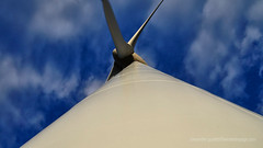 Looking Up Windmill (Sailor Alex) Tags: france landscape windmills giants windpower windgeneration languedocroussilon