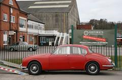Made in 1968: Jag & Rolls (davocano) Tags: brooklands carauction jaguar240 historicsatbrooklands flg379f vwj942f