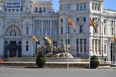 Ayuntamiento de Madrid (Emilio J. Rodrguez-Posada) Tags: madrid refugees fuente marzo cibeles ayuntamiento 2016 ayuntamientodemadrid refugeeswelcome