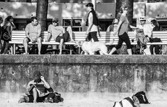 Sunday morning, Manly Beach (LSydney) Tags: beach sand manly promenade walkers manlybeach