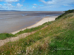 VIEW ACROSS THE DEE ESTUARY TOWARDS POINT OF AYR IN NORTH WALES (David~Preston) Tags: uk england beach coast sand merseyside northwales thurstaston deeestuary wirralcountrypark thewirral pointofayr