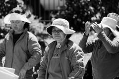Distracted by my camera (aleadam) Tags: sanfrancisco summer portrait blackandwhite bw white black chinatown exercise distraction aleadam alejandroadam