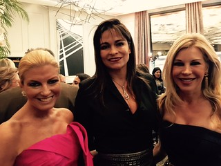 Artist Lesli Brown, Chary Rico-Torres and judge Bronwyn Miller at the Arsht center 10 year anniversary gala cocktail.