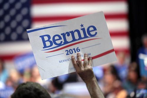 Bernie Sanders sign by Gage Skidmore, on Flickr