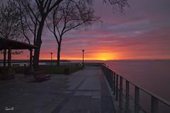 Amanecer muy clido as que...tonos a juego (lesxanes) Tags: sea sky seascape color beach beautiful sunrise mar asturias luanco amanecer cielo