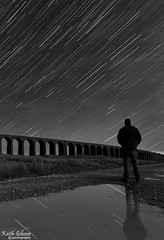 Star Gazing (wiganworryer) Tags: bridge portrait sky train self canon lens stars landscape photography is photo moving movement track angle image zoom head yorkshire wide picture keith move astro line viaduct full frame l series 16 35 gibson f4 dales selfie 6d ingleton ribble ribblehead 2016 wiganworryer