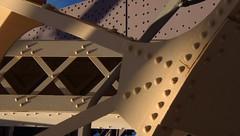 Grand Day: NYC by Car Over Roosevelt Island (catchesthelight) Tags: building rivets industrial manhattan bluesky views rooseveltisland newyorkcityny springvisit travelbycar bridgecloseup april2016