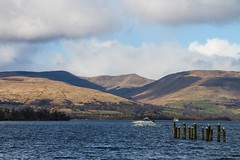 Loch Lomond / Boats / Birds (socialscott) Tags: mountain water birds easter landscape scotland boat spring backdrop loch lomand