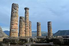 Delphi Temple of Apollo 5 (PhillMono) Tags: travel history stone architecture temple oracle ancient nikon order god empty pillar ruin delphi hellas tourist greece column dslr apollo mythology doric relic d7100