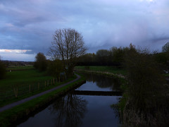 Year 2 April Caldon Canal (Alan FEO2) Tags: uk bridge trees 2 england sky horses reflection water clouds landscape outdoors grey canal football same april stokeontrent 16 months 12 footpath staffordshire dank caldoncanal dreaery imageyear 2oef