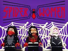 Spider-Women (gmanwease) Tags: moon cindy comics lego jessica spiderman silk drew marvel spiderwoman spidergwen earth616 spiderverse earth65 earth001