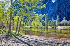 Merced River at Dawn. Yosemite California (Travel to Eat) Tags: california waterfall nationalpark scenery yosemite mercedriver