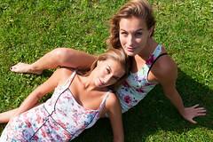 Twins (David Kramer Photography) Tags: girls summer hot dutch amsterdam twins pretty dress blondes sunny villa beautifull