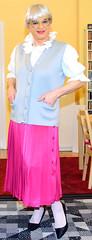 Ingrid021727 (ingrid_bach61) Tags: skirt blouse mature button waistcoat pleated ruffled weste faltenrock rschenbluse durchgeknpft