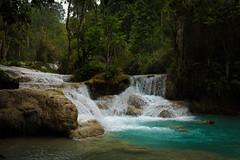 Kuang Si Falls Pools 1 (JessicaAuen) Tags: travel blue nature water wonder waterfall rainforest asia meditate natural outdoor falls pools jungle cascades tropical southeast laos cascade