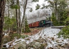 In the woods of Maine... (kdmadore) Tags: railroad train steam steamengine wwf narrowgauge steamlocomotive alna 2foot wiscassetwatervillefarmington wwfry9 maine2foot