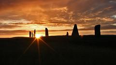 IMG_6170ZZ (Tony Smithers) Tags: standing islands orkney stones sunsets isles shetland silouhettes