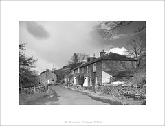 Farneyside Cottages, Ninebanks (Mike Palmer Fauxtography. Off) Tags: trees bw house building monochrome architecture clouds rural canon eos mono country northumberland 7d usm bucolic cottages f28l michaelpalmer ef1735mm ninebanks farneyside