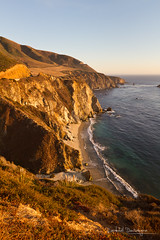 Californian Coast (Raph/D) Tags: ocean voyage california road ca trip travel bridge sunset usa west colors beautiful rock america canon eos one 1 golden coast us big highway warm place state pacific united scenic calif cal american shore 7d l sur series states catchy tone bixby lightroom lseries canoneos7d