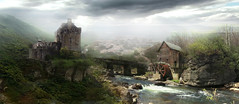 Molino de Agua - Matte Painting (Agustin C. Barranco) Tags: photoshop painting matte photoshopcreativo