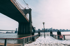 (Denn-Ice) Tags: nyc newyorkcity bridge snow ny newyork architecture landscape manhattan sony 28mm brooklynbridge sonyalpha sonya7rii sonyfe28mm