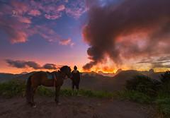 Wait n See (Jose Hamra Images) Tags: sunset mountain sunrise landscape malang bromo tengger probolinggo lumajang bromotengger