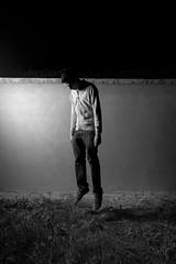 Levitate (Yannick Romming) Tags: light bw night artificial levitate
