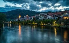 Frohnleiten / Styria (Wim Air) Tags: blue church river austria evening sundown hour mur bernhard styria wimmer frohnleiten wimairat