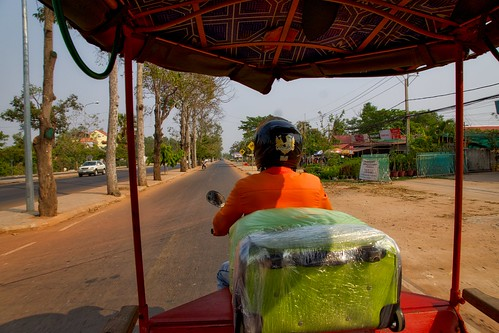 Tuk-Tuk ride from the airport to our hotel in Siem Reap, Cambodia
