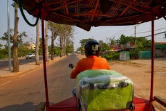 Tuk-Tuk ride from the airport to our hotel in Siem Reap, Cambodia (UweBKK ( 77 on )) Tags: road street asia cambodia kambodscha ride traffic sony siem reap tuktuk southeast alpha dslr angkor 77 slt