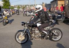 PanningPracticeYamaha (B Shree B) Tags: seattle sunset cafe motorcycle ballard racers backfire