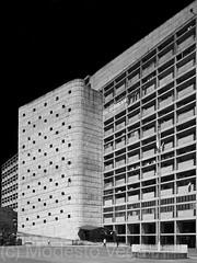 The Secretariat building [BW] (Modesto Vega) Tags: monochrome architecture blackwhite arquitectura nikon lecorbusier tone chandigarh mapped d600 tonemapping secretariatbuilding charlesdouardjeanneretgris