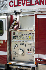 Truck 221 left panel - Cleveland Heights Fire Department (Tim Evanson) Tags: hydrant firetruck firedepartment laddertruck clevelandheightsohio clevelandheightsfiredepartment