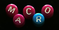 One of these things (Carahiah) Tags: colors rose beads bleu lettre perles oneofthesethingsisnotliketheothers oneofthesethings macromondays